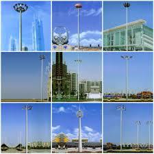 Hps Lights 20m 8 Lights High Mast Pole Parking Lot Light Poles With Hps Light