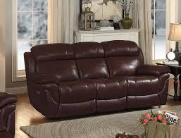 sofa match homelegance spruce double reclining sofa brown top grain leather