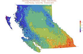 Map Of Bc Solar Power Bc Clean Energy Bc