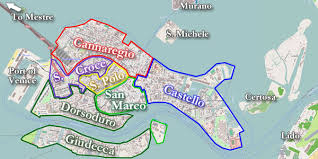venice map the layout of venice its canals major streets and bridges and