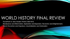 world history final review ppt download
