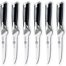 designer kitchen knives amazon com foxel premium contemporary steak knife set gift box