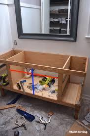 Diy Bathroom Vanity Cabinet Building A Diy Bathroom Vanity Part 5 Making Cabinet Doors