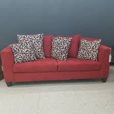 donate sleeper sofa red upholstered