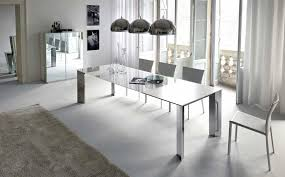 Contemporary Pendant Lighting For Dining Room by Trendy Decor Of Contemporary Dining Room Design With Fully White