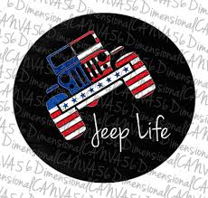 jeep life tire cover jeep life red white and blue glitter jeep tire cover by