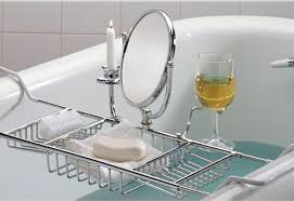ultimate bathtub caddy sharper image