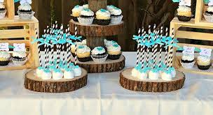 Tiffany Blue Candy Buffet by This Rustic Black White And Tiffany Blue Dessert Table Is A