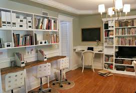 Ikea Built In Cabinets by Built In Desk Ikea With Billy Bookcase Ins Sew Gallery Images