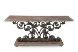 Mathis Brothers Office Furniture by Hooker Metal Scroll Console Table Mathis Brothers Furniture