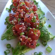 tartare cuisine fresh ahi tuna tartare with avocado recipe kitchenbowl