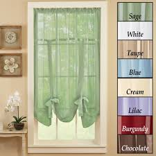 Tie Up Curtain Shade Sheer Tie Up Shade Curtain From Collections Etc