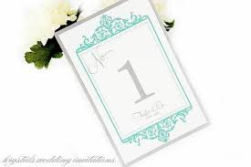 vintage wedding table number table cards