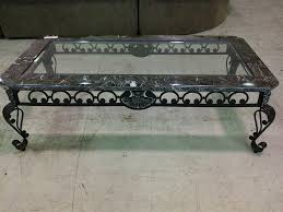 wrought iron coffee table with glass top coffee table coffee table small round wrought iron base with glass