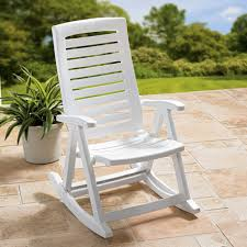 White Patio Rocking Chair by Furniture U0026 Accessories Some Great Design Of Outdoor Folding