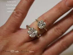 size 6 engagement ring size comparisons with tradecraft jewelry