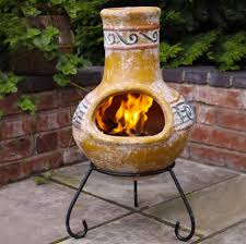 Outdoor Fire Pit Chimney Hood by Enjoy A Good Conversation With Clay Fire Pit Chimney