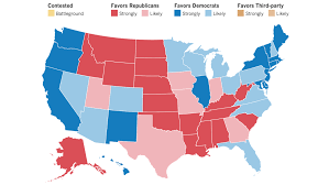 2012 Presidential Election Map by Our Final Map Has Clinton Winning With 352 Electoral Votes