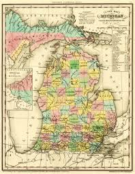 map of roads file 1842 a new map of michigan with its canals roads distances by