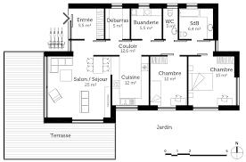 plan maison plain pied 5 chambres plan maison passive plain pied ooreka
