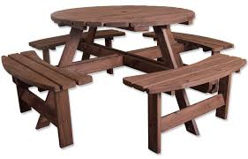 round table woodside rd woodside 8 seater round pressure treated bench furniture outdoor