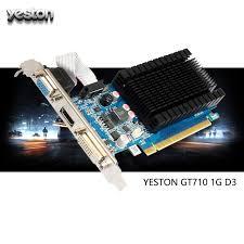 carte graphique pc bureau yeston geforce gt 710 gaming carte graphique gpu 1 gb gddr3 64bit