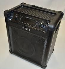 ion bluetooth speaker with lights ion block rocker max portable bluetooth speaker ipa76c2 with light
