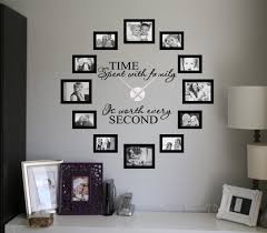 beautify your walls with ey clock design decals time spent picture frame clock