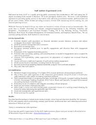 best solutions of external auditor resume cover letter also format