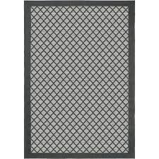 shop orian rugs fusion trellis graphite rectangular indoor outdoor