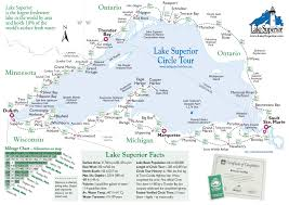 Great Loop Map Simple Map Of Lake Superior Lake Superior Magazine