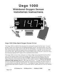 uego 1000 wideband oxygen sensor installation instructions