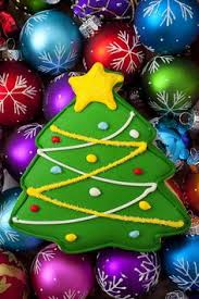 christmas tree cookie painting for holiday decorating 25 00 via