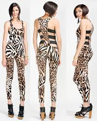 cheetah print jumpsuit fashion nicki minaj beez in the trap print cutout