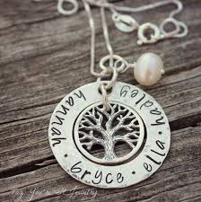 kids name necklace family tree name necklace with kids names by tagyoureitjewelry