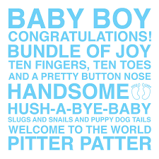 baby boy sentiments card by megan claire notonthehighstreet com