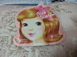 beauty review etude house silk scarf double care hair mask
