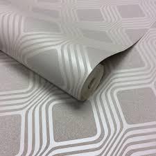 henderson interiors camden geometric textured glitter wallpaper