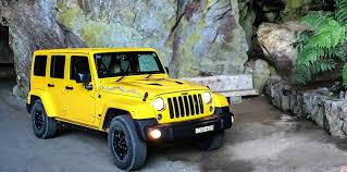 yellow jeep wrangler unlimited 2015 jeep wrangler unlimited x review jenolan caves weekender