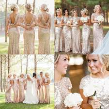 sparkly rose gold 2017 cheap mermaid bridesmaid dresses 2016 short