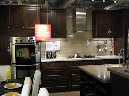 Kitchens With Dark Wood Cabinets Home Design White Or Dark Kitchen Cabinets With Regard To Wood