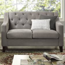 Grey Tufted Sofa by Dorel Living Threshold Tufted Loveseat Pewter