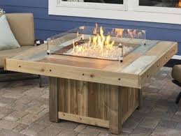 Gas Firepit Square Gas Firepit Wind Guards