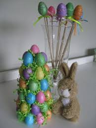 Easter Decorations On Sticks by 177 Best Holidays Easter Trees U0026 Wreaths Images On Pinterest