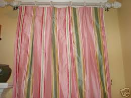 Sewing Drapery Panels Together Pink Green Stripe Silk Drapery Panels Drapes Curtains