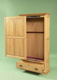 Built In Gun Cabinet Plans Amish Handcrafted Gun Cabinet With Sliding Door