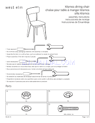 assembly instruction for chairs west elm klismos dining chair