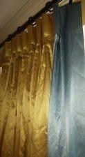 Gold And Blue Curtains J C Penney Satin Curtains Drapes U0026 Valances Ebay