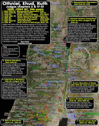 timeline maps chronology sermons of othneil ehud ruth 1350