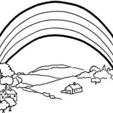 free printable rainbow coloring pages for kids coloring page of a